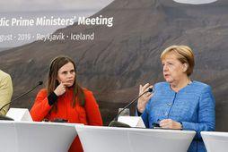 Viðeyjarfundur Norrænu ráðherranefndarinnar og Merkel fór fram áðan.