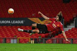 Edinson Cavani hefur spilað vel fyrir United á tímabilinu.
