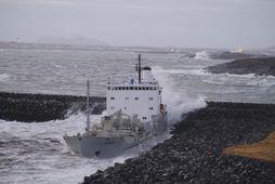 Fjordvik á strandstað í nóvember 2018.