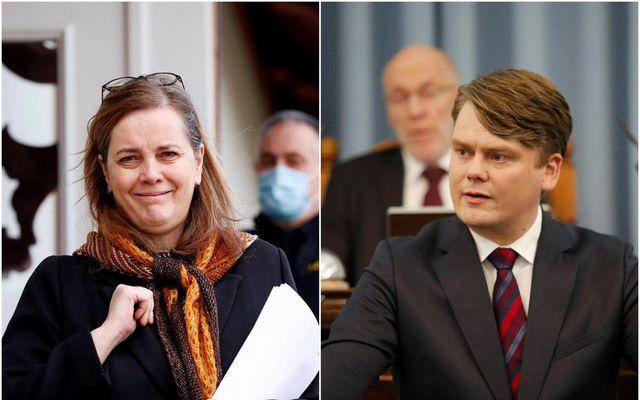 Svandís Svavarsdóttir heilbrigðisráðherra og Andrés Ingi Jónsson, þingmaður Pírata.
