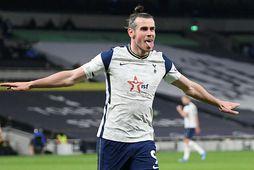 Gareth Bale skoraði þrennu í gærkvöldi.