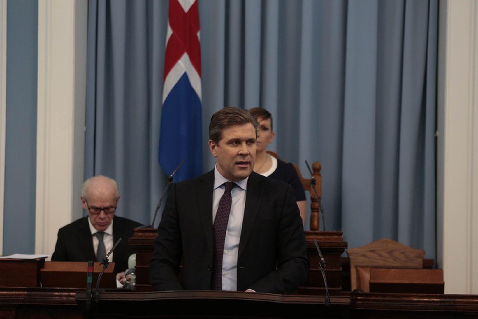 Bjarni Benediktsson, forsætisráðherra, á Alþingi í gær.