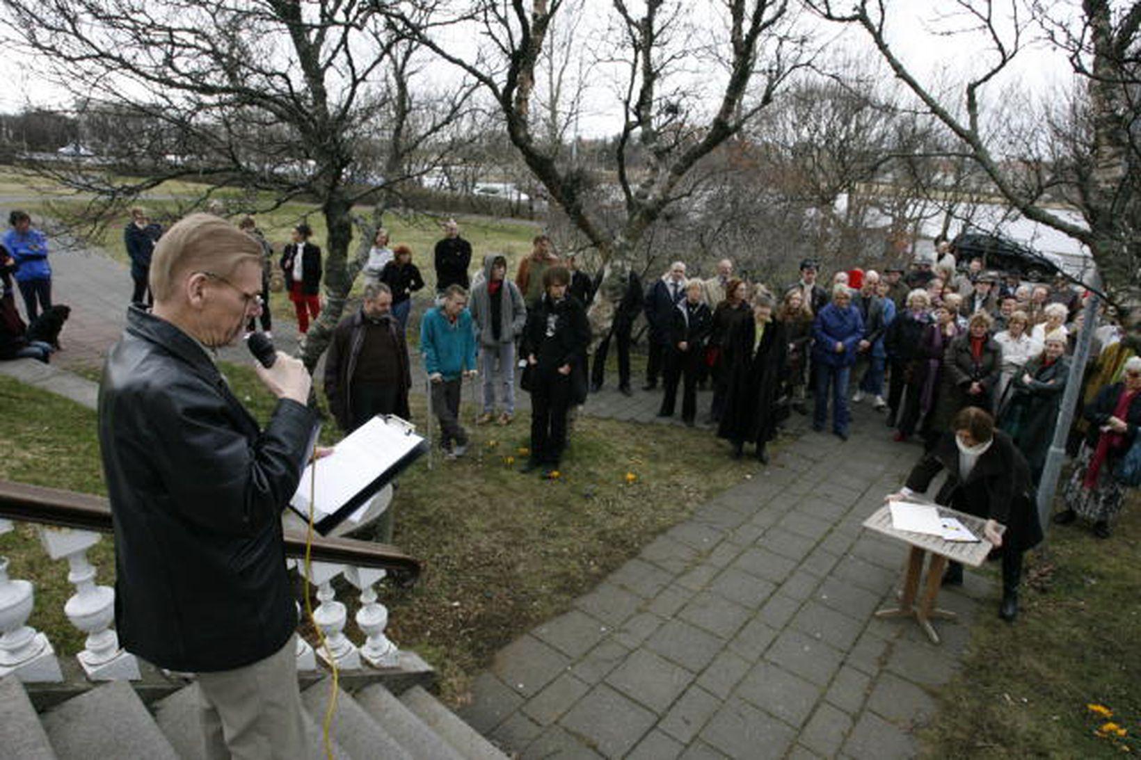 Þorgrímur Gestsson, blaðamaður, var fundarstjóri á stofnfundinum.