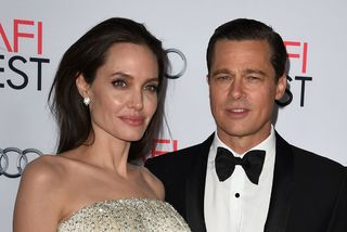 Angelina Jolie og Brad Pitt á meðan allt lék í lyndi.