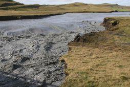 Hættustigi almannavarna var lýst yfir í dag vegna Skaftárhlaupsins. Myndin er frá hlaupinu árið 2015.