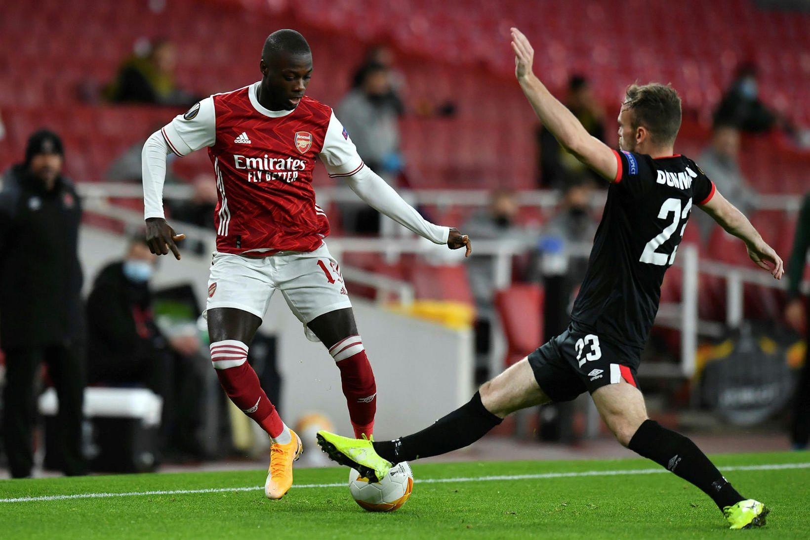 Nicolas Pépé í leik með Arsenal á dögunum.