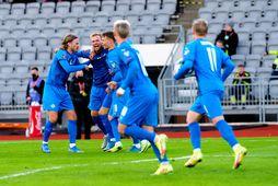Íslenska karlalandsliðið í knattspyrnu er í 60. sæti á FIFA-listanum.