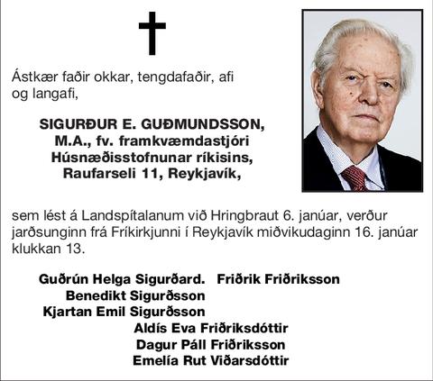 Sigurður E. Guðmundsson,