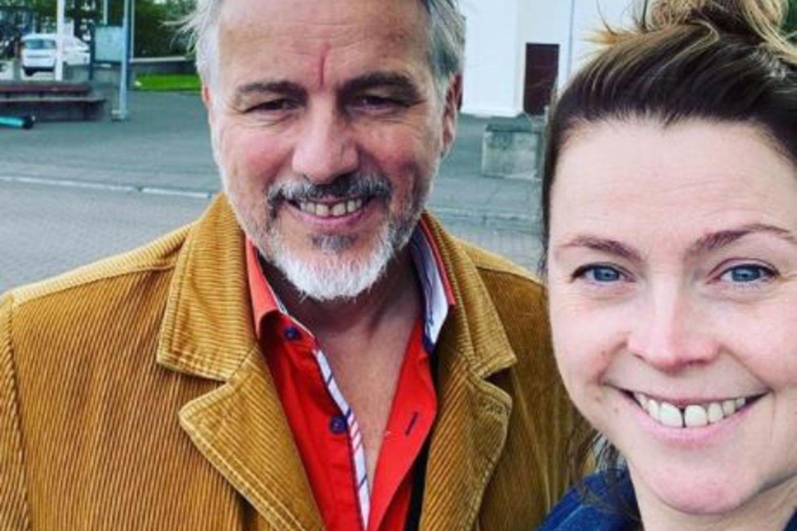 Jökull Jörgenssen og Margrét Eir Hönnudóttir gengu í hjónaband um …
