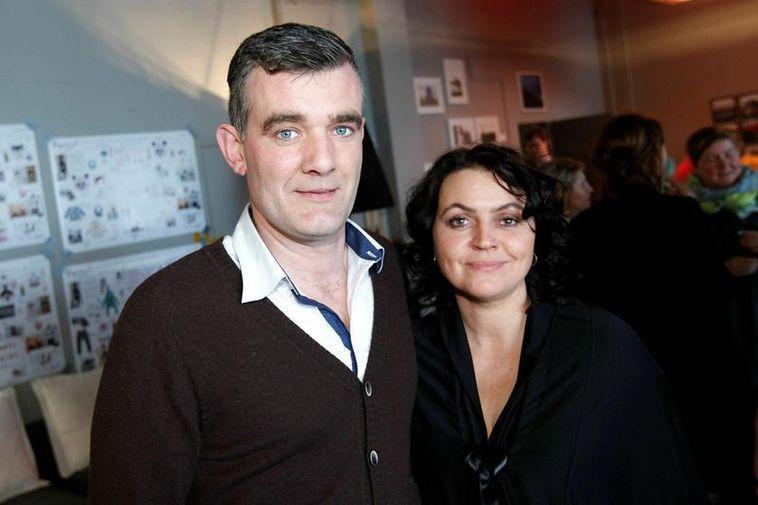 Stefán Karl and his wife Steinunn Ólína.