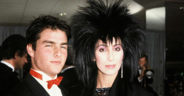 Falleg saman! Tom Cruise og Cher voru í sambandi um tíma árið 1985.