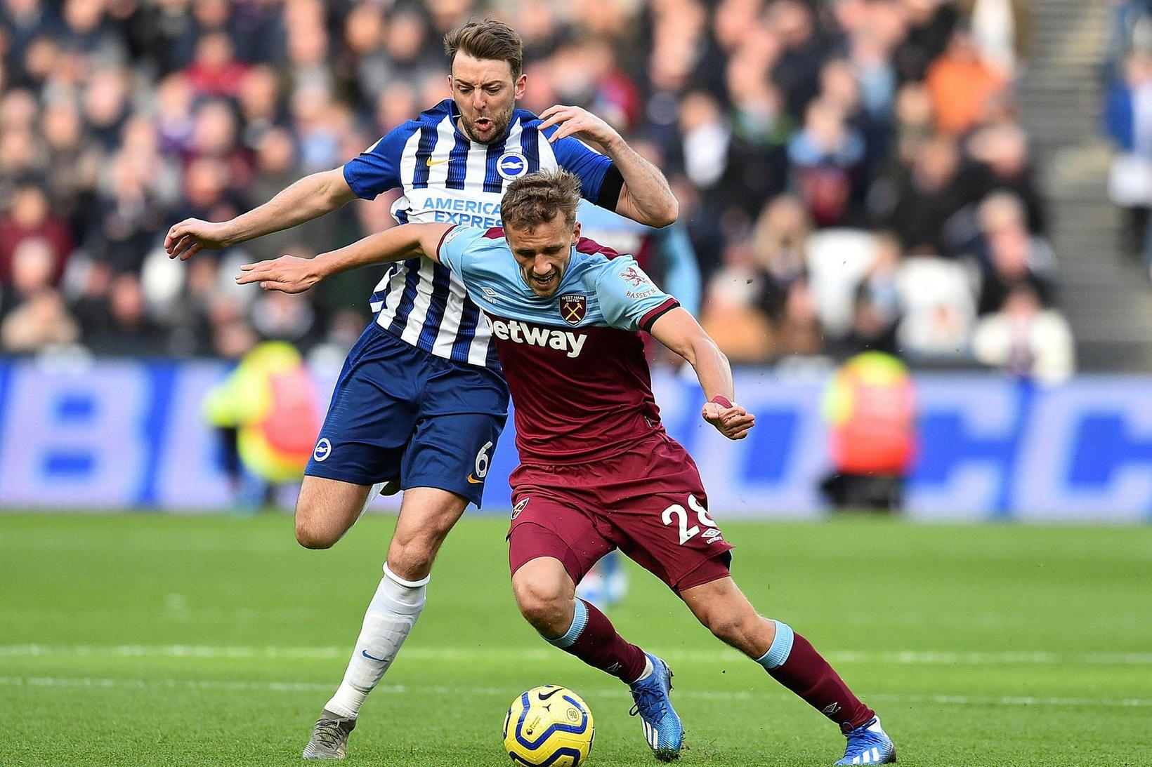 Tomas Soucek í leik með West Ham.