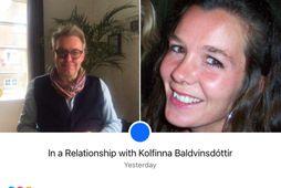 Freyr og Kolfinna skráðu sig í samband á Facebook í gær.