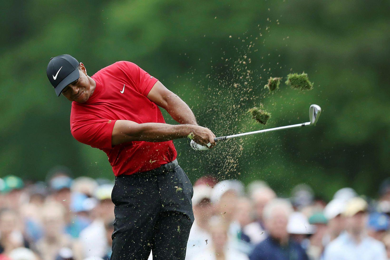 Tiger Woods virkar í frábæru formi þessa dagana.