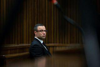 Oscar Pistorius í dómsal.