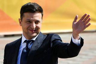 Volodimír Selenskí, nýkjörinn forseti Úkraínu.