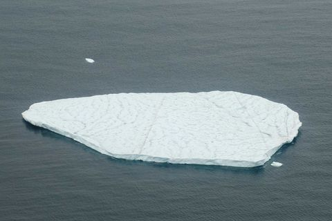 A photo of the iceberg captured by our photographer who passed it in a helicopter last week.