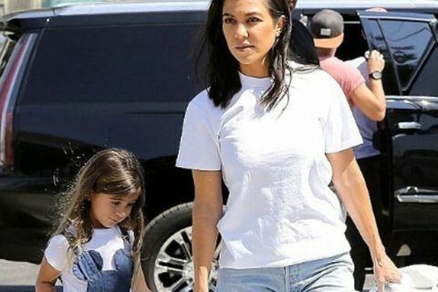 Kourtney Kardashian ásamt dóttur sinni Penelope.