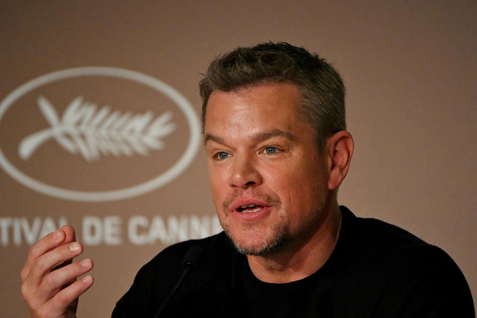 Matt Damon á fullt í fangi með 15 ára dóttur …