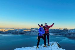 Sigurður Bjarni Sveinsson og Heimir Fannar Hallgrímsson. Myndin er frá undirbúningi ferðarinnar.