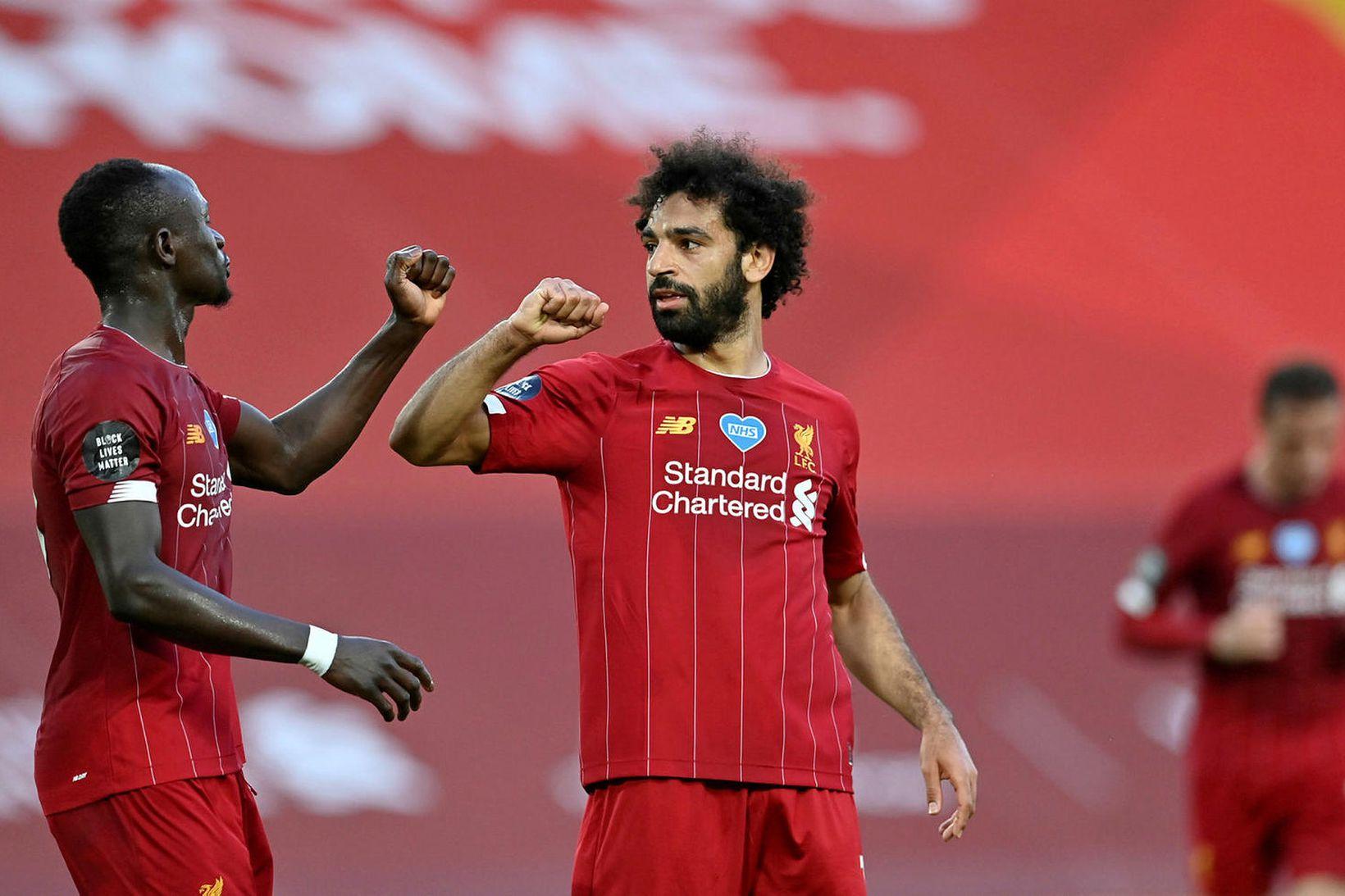 Mohamed Salah hefur skorað sautján mörk í ensku úrvalsdeildinni á …