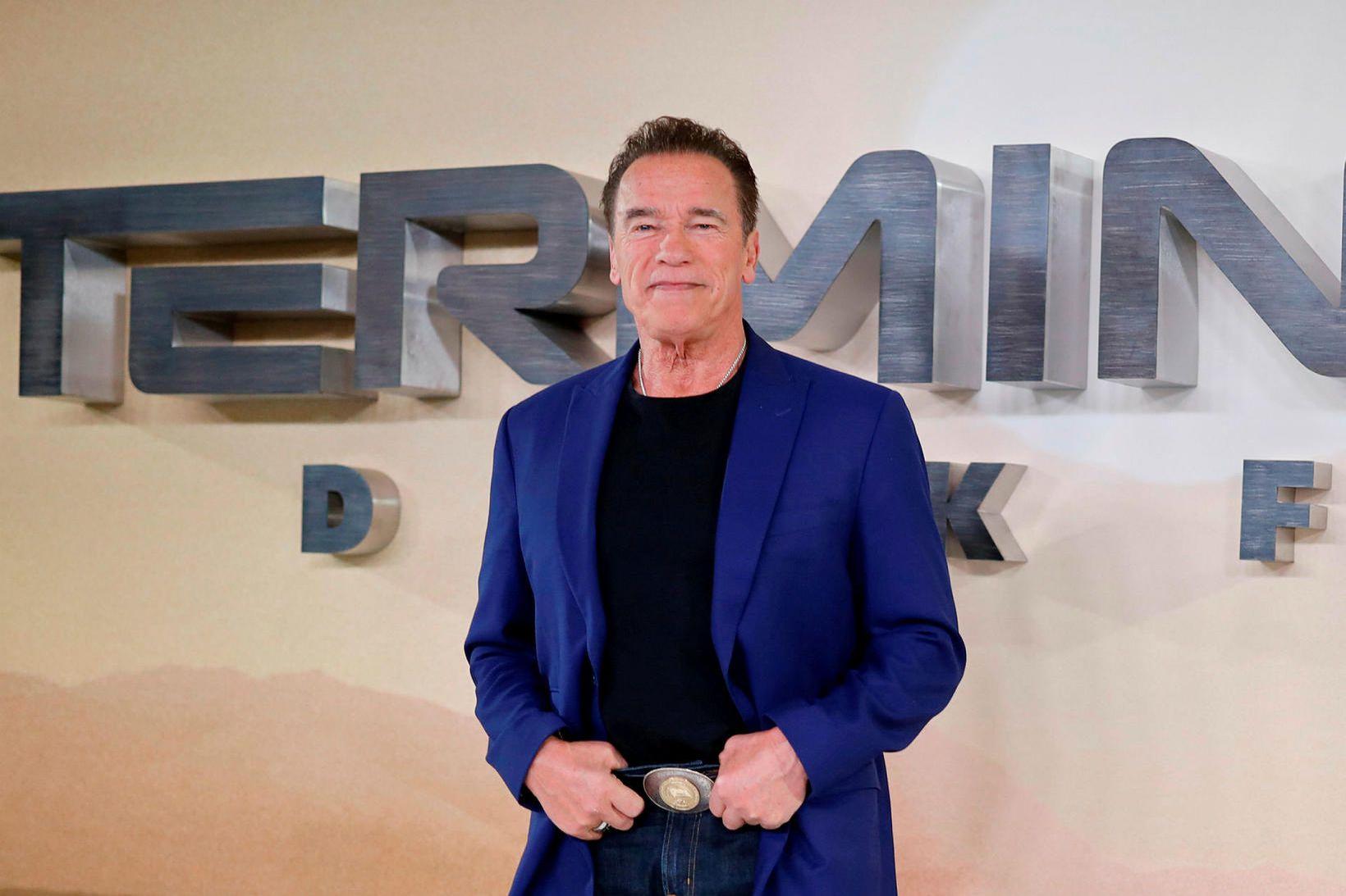 Arnold Schwarzenegger kynnir nýjustu myndina um Tortímandann, Dark Fate.
