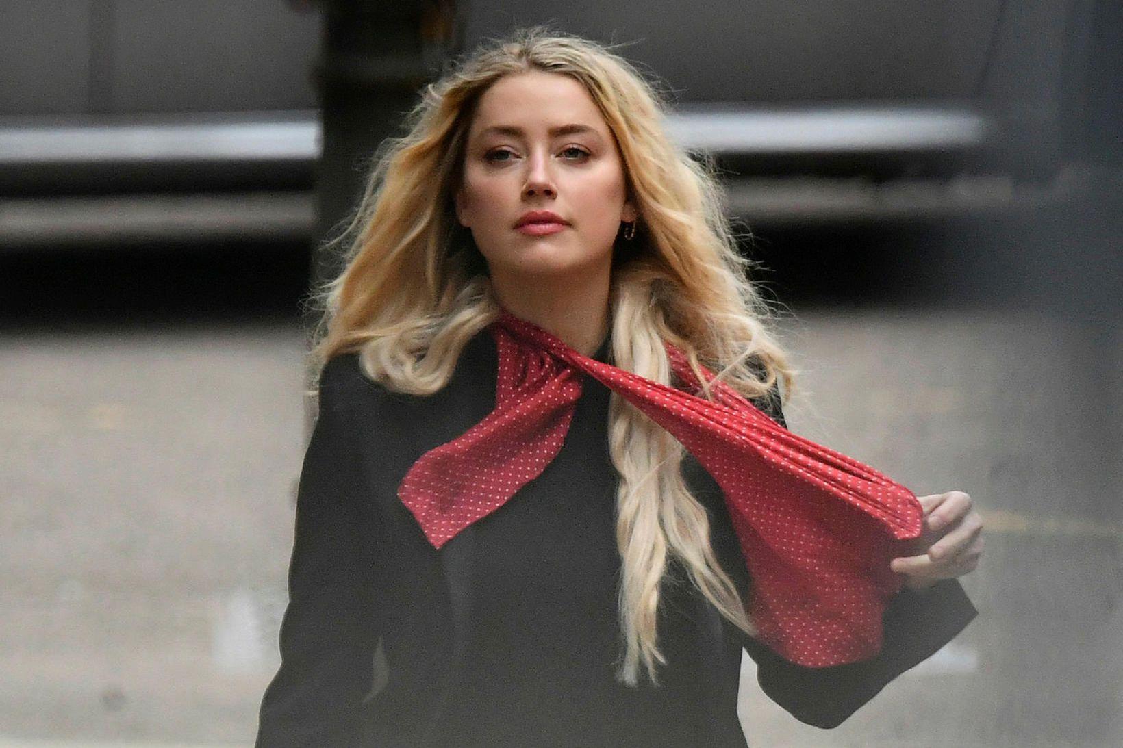 Amber Heard á áttunda degi réttarhaldanna.