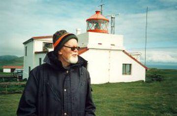 Óskar Jakob Sigurðsson vitavörður á Stórhöfða og faðir Pálma Freys Óskarssonar, veðurathugunarmanns.