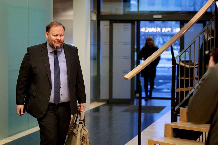 Bergþór Ólason at Parliament yesterday.