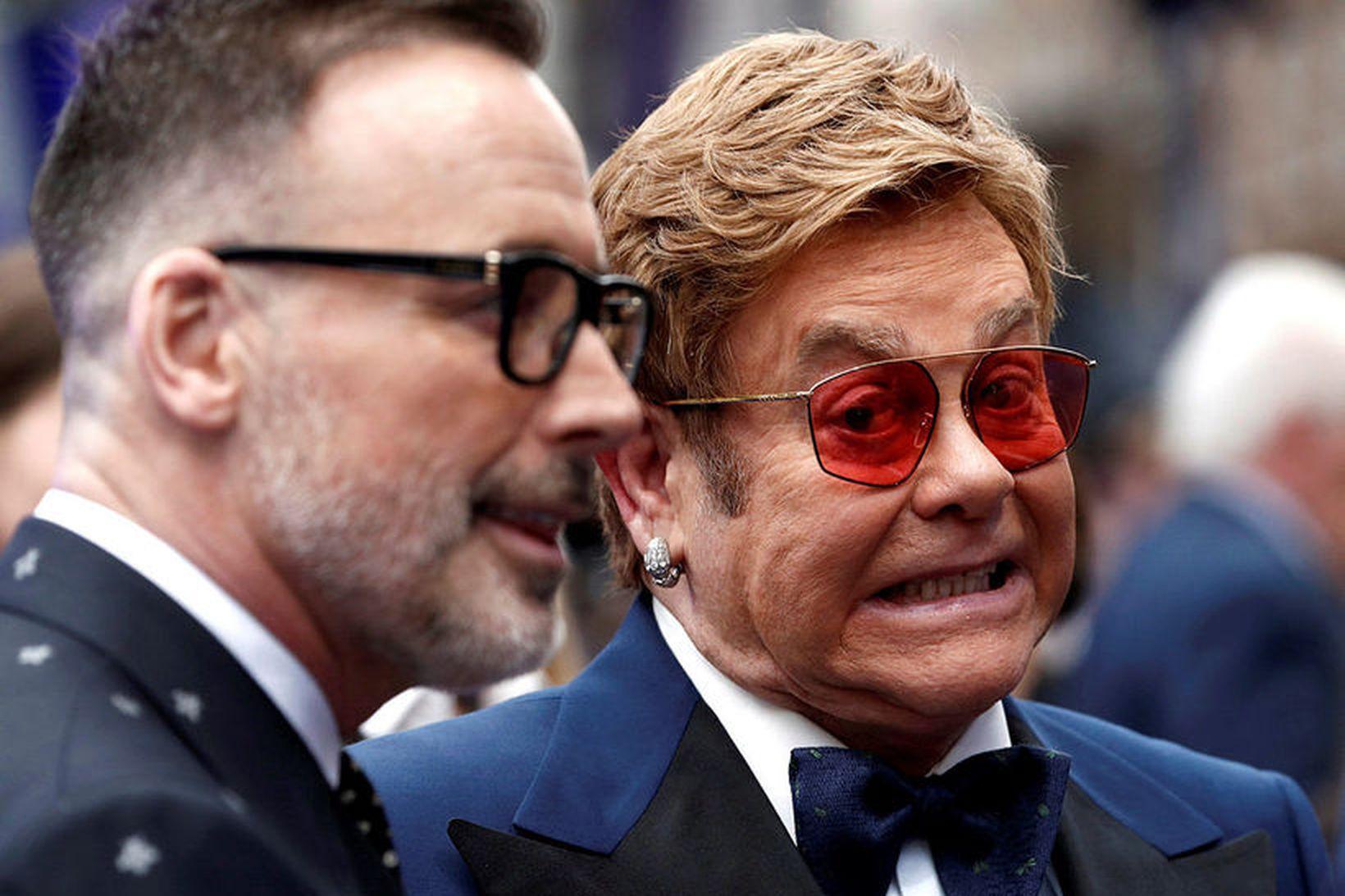 David Furnish og Elton John.