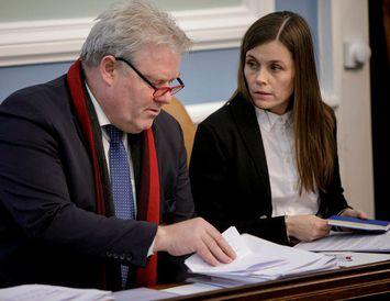 Sigurður Ingi Jóhannsson og Katrín Jakobsdóttir forsætisráðherra.