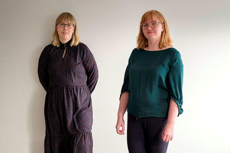 María Ólafsdóttir og Emma Eyjólfsdóttir halda úti skemmtilegum hlaðvarpsþáttum, Andvarpið ...