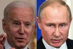 Samsett mynd af Joe Biden og Vladimir Pútín.