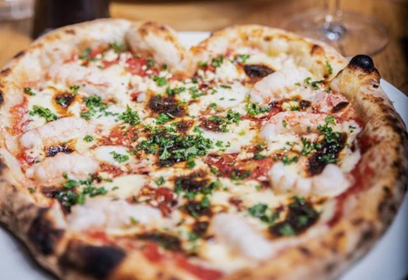 This heart shaped lobster pizza at Essensia in Hverfisgata is a popular Valentines day treat.