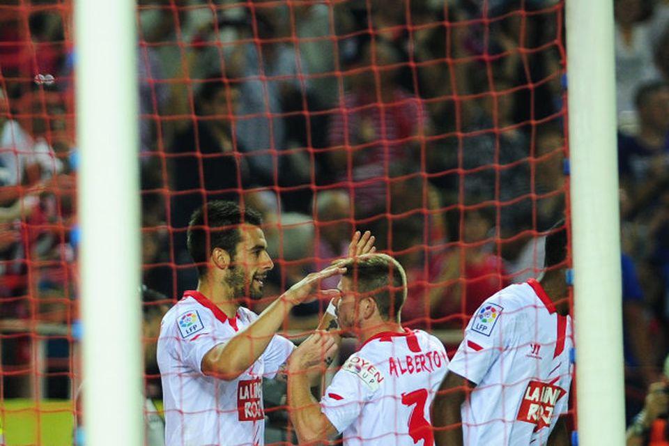 Alvaro Negredo er kominn til Manchester City sem keypti hann af Sevilla fyrir 20 milljónir …