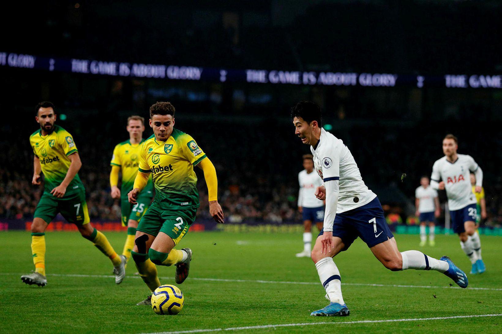 Son Heung-min skoraði sigurmark Tottenham.