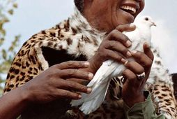 Mandela lést í kjölfar erfiðra veikinda þann 5. desember í fyrra