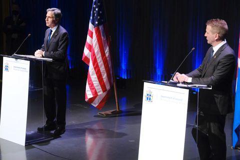 US Secretary of State Antony Blinken and Minister for Foreign Affairs Guðlaugur Þór Þórðarson.