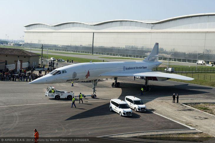 Concorde MSN1, ein fyrsta vélin sem framleidd var.
