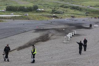 Flugslysið varð við kappakstursbraut Bílaklúbbs Akureyrar í ágúst árið 2013.