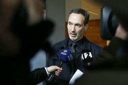 Björn Þorvaldsson, saksóknari málsins, ræddi við fjölmiðla eftir dómsuppkvaðningu.