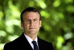 Emmanuel Macron tekur við embætti forseta Frakklands á sunnudaginn.