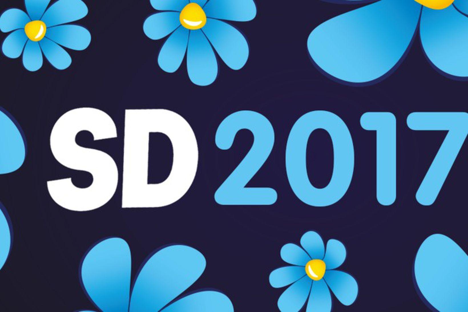Merki Sverigedemokraterna/Svíþjóðardemókrata.