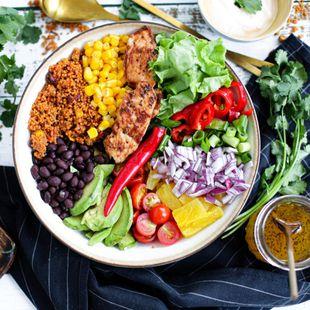 Mexíkóskt salat sem tikkar í öll box