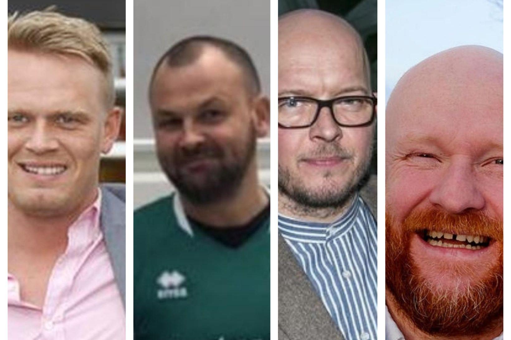 Hjörvar Hafliðason, Mikael Nikulásson, Stefán Hrafn Hagalín og Hjálmar Örn …