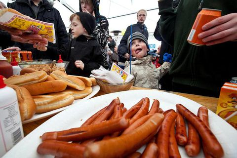 Hot dogs are a popular choice for all sorts of events.