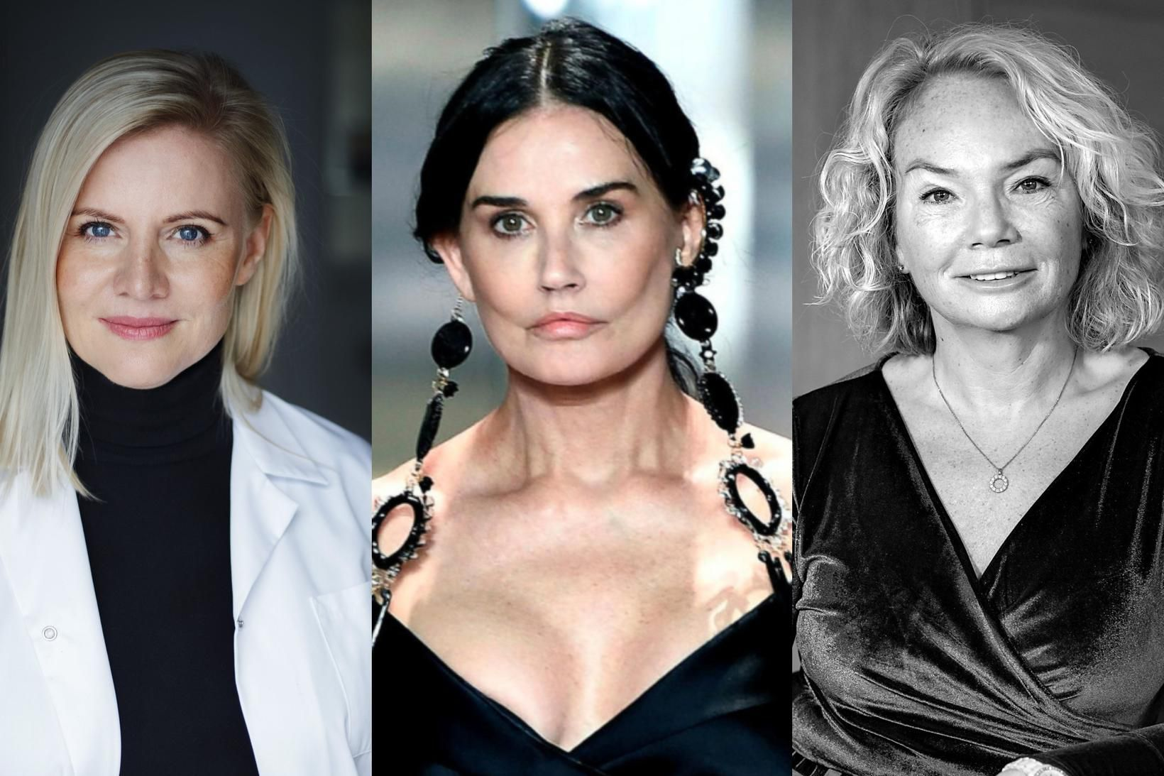 Jenna Huld Eysteinsdóttir, Demi Moore og Þórdís Kjartansdóttir.