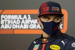 Max Verstappen í Abu Dhabi í dag.