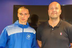 Gunnar Hrafn Pálsson og Patrekur Jóhannesson, þjálfari Stjörnunnar.
