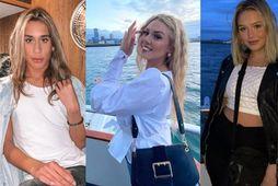 Patrekur Jamie, Magnea Björg og Kamilla Ívars voru öll í snekkjuferðinni í gærkvöldi.